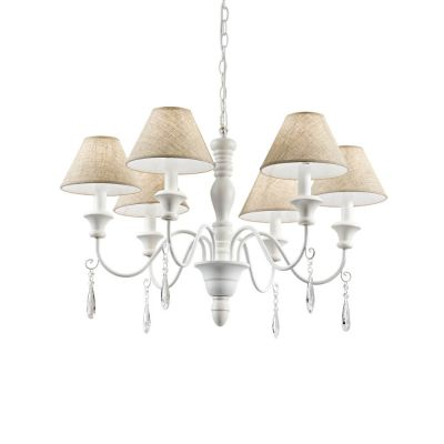 Candelabru PROVENCE SP6 BIANCO 003399 Ideal Lux