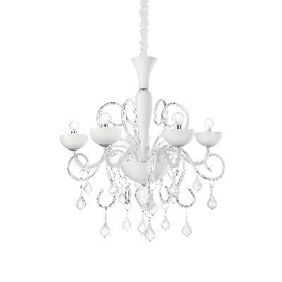 CANDELABRU LILLY SP5 BIANCO IDEAL LUX IDEAL LUX