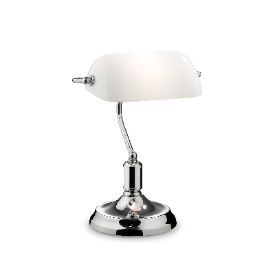 LAMPA DE BIROU LAWYER TL1 CROMO IDEAL LUX