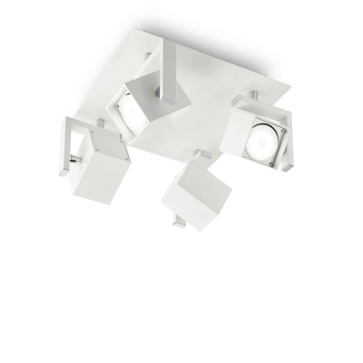 PLAFONIERA MOUSE PL4 BIANCO IDEAL LUX