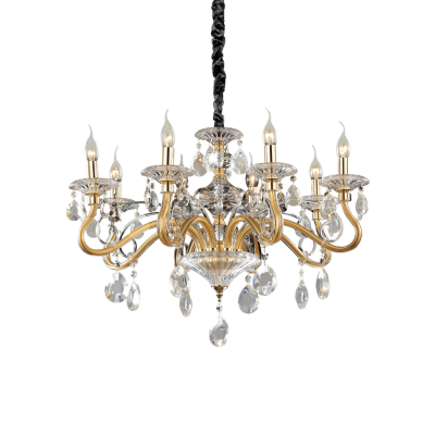 CANDELABRU NEGRESCO SP8 ORO IDEAL LUX