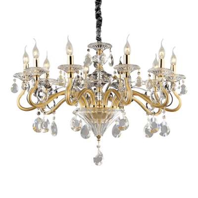 CANDELABRU NEGRESCO SP10 ORO IDEAL LUX
