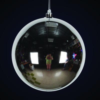 Produs decorativ tip Glob d=20cm argintiu lucios