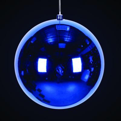 Produs decorativ tip Glob d=30cm albastru lucios