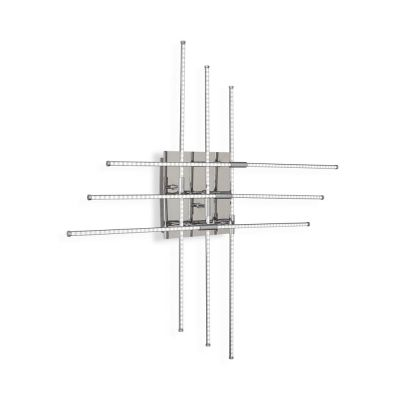 Plafoniera CROSS PL6 CROMO 114750 Ideal Lux
