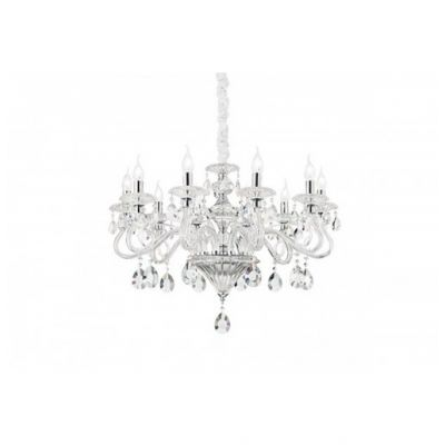 CANDELABRU NEGRESCO SP8 TRASPARENTE IDEAL LUX