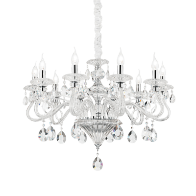 CANDELABRU NEGRESCO SP10 TRASPARENTE IDEAL LUX