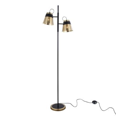 LAMPADAR TRENTO BLACK&GOLD ANTIQUE