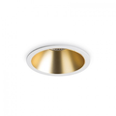 SPOT INCASTRAT GAME ROUND WHITE GOLD IDEAL LUX