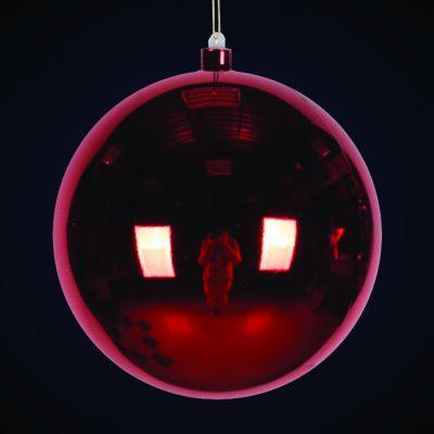 Produs decorativ tip Glob d=38cm rosu lucios