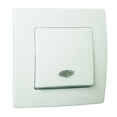 Intrerupator ST cap-scara cu LED alb MAKEL