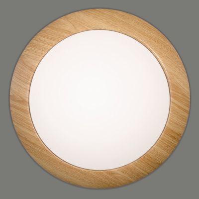 PLAFONIERA BEVAN OPAL-MADERA 15W LED