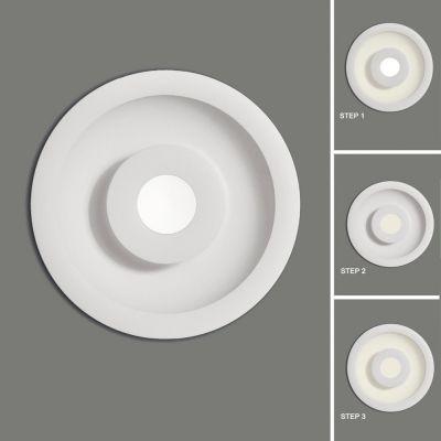 PLAFONIERA BIOS TEXTURED WHITE, LED 1x15W, 4200K +1x7W, 4200K, 3288/18 LED ACB
