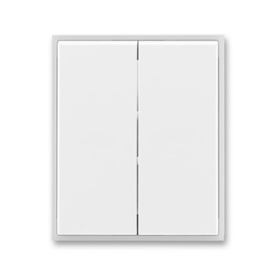 Clapeta comutator alb/alb translucid Time+Element