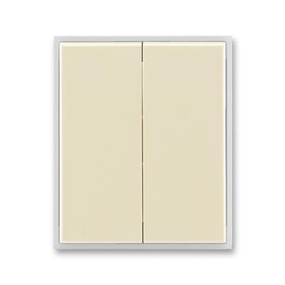 Clapeta comutator ivoire/alb translucid Time+Element