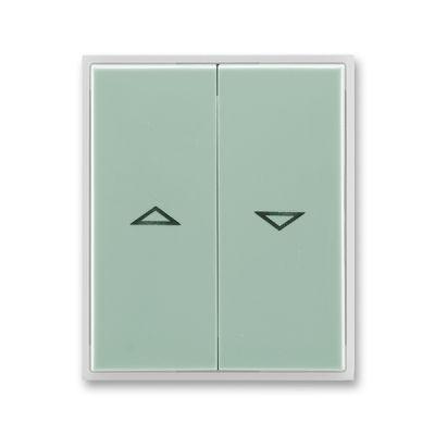 Clapeta comutator pt. jaluzele agava/alb translucid Element+Time