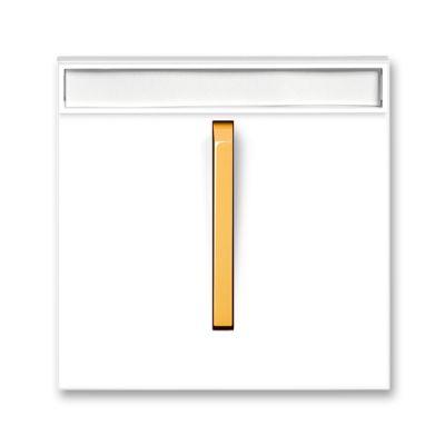 Clapeta intrerupator port eticheta alb/portocaliu fresh Neo