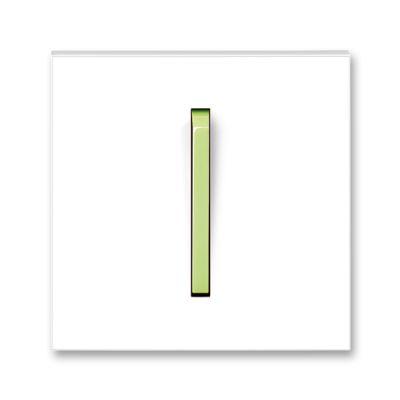 Clapeta intrerupator alb/verde fresh Neo