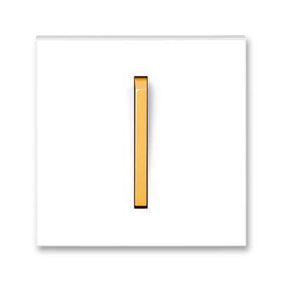 Clapeta intrerupator alb/portocaliu fresh Neo