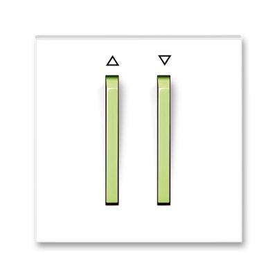 Clapeta comutator pentru jaluzele alb/verde fresh Neo