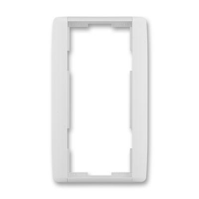 Rama dubla verticala alb/alb translucid Element