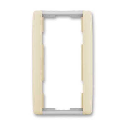 Rama dubla verticala ivoire/alb translucid Element