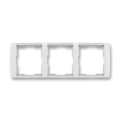 Rama tripla orizontala alb/alb translucid Element