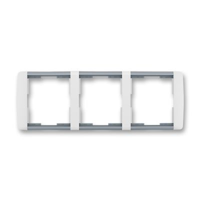 Rama tripla orizontala alb/gri translucid Element