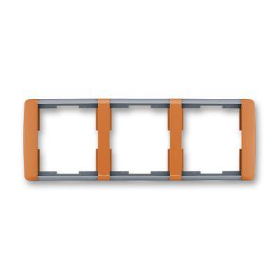 Rama tripla orizontala caramel/gri translucid Element