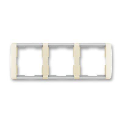 Rama tripla orizontala ivoire/alb translucid Element