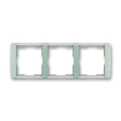 Rama tripla orizontala verde/alb translucid Element