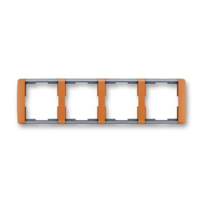 Rama 4 aparataje orizontala caramel/gri translucid Element