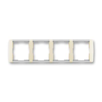 Rama 4 aparataje orizontala ivoire/alb translucid Element