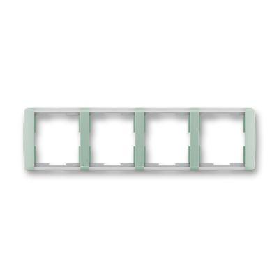 Rama 4 aparataje orizontala verde/alb translucid Element