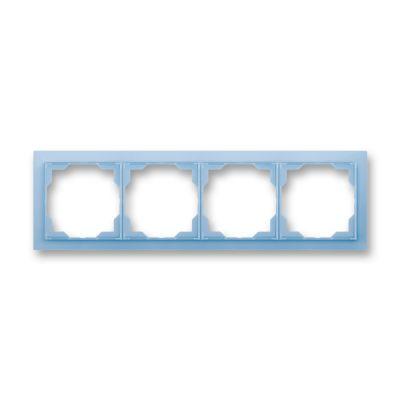 Rama 4 aparataje orizontala albastru fresh Neo