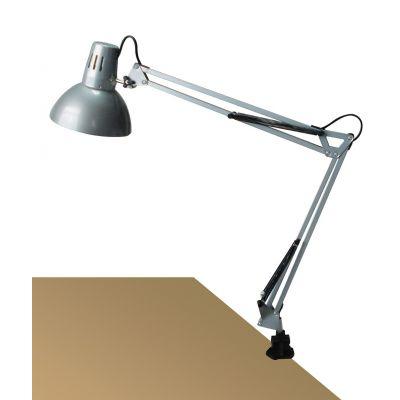 LAMPA DE BIROU ARNO SILVER, 1xE27, H 70CM, CU PRINDERE PE MASA  4216 RABALUX