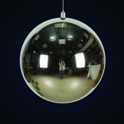 Produs decorativ tip Glob d=30cm argintiu lucios