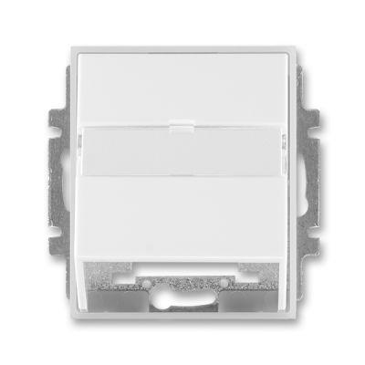Masca priza comunicatii date alb/alb translucid Time+Element
