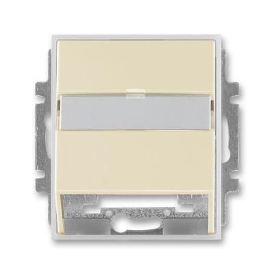 Masca priza comunicatii date ivoire/alb translucid Time+Element