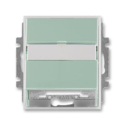 Masca priza comunicatii date verde/alb translucid Time+Element