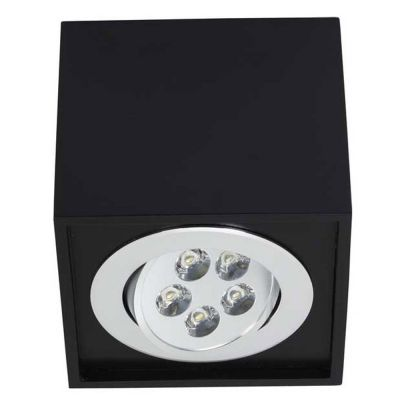 PLAFONIERA BOX LED BLACK