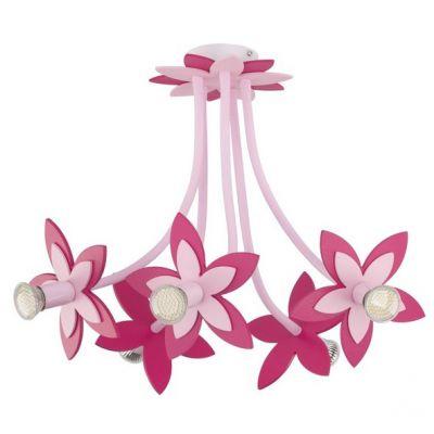 CANDELABRU FLOWERS PINK