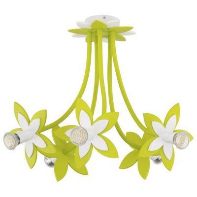 CANDELABRU FLOWERS GREEN