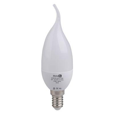 Bec cu LED flacara E14 6W/830 230V alb cald