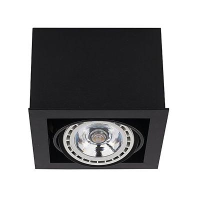 SPOT BOX BLACK, 1xGU10, ES111