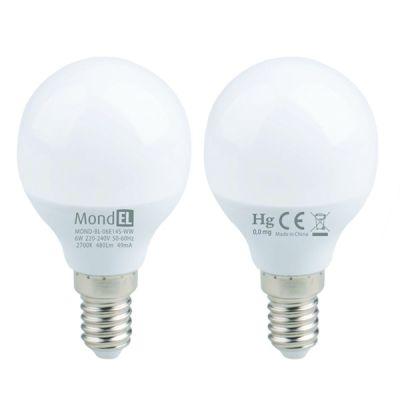 Bec cu LED sferic E14 6W/830 230V alb cald