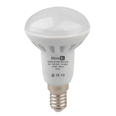 Bec cu LED R50 E14 6W/830 230V alb cald