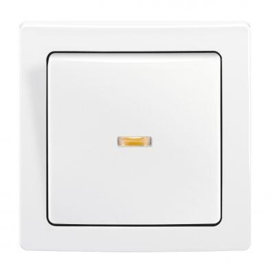 Intrerupator cap-scara cu LED ST alb Swing