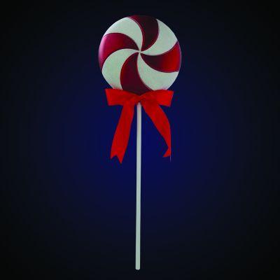 Produs decorativ Lollipop h=60.96cm rosu/alb