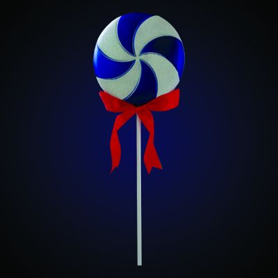 Produs decorativ Lollipop h=60.96cm albastru/alb